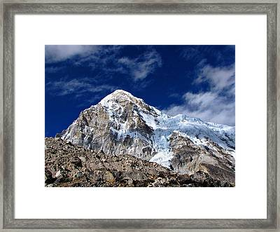 Pumori-everest Base Camp Trek-nepal Framed Print by Copyright Michael Mellinger