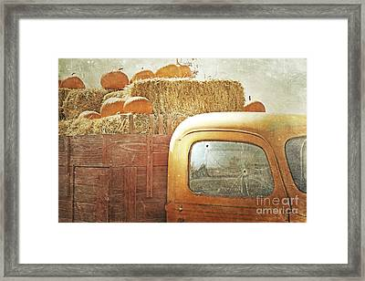 Pumpkin Farm Truck Framed Print