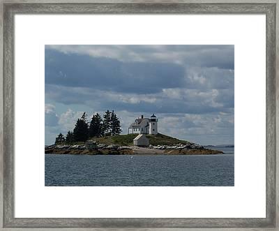 Pumpkin Island Lighthouse Framed Print by Joseph Rennie