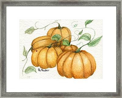 Pumpkin Time Framed Print by Paula Greenlee