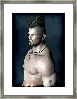 Framed Print featuring the painting Punk by Maynard Ellis