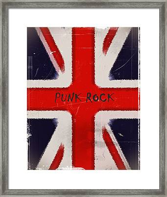 Punk Rock Framed Print by Sharon Lisa Clarke