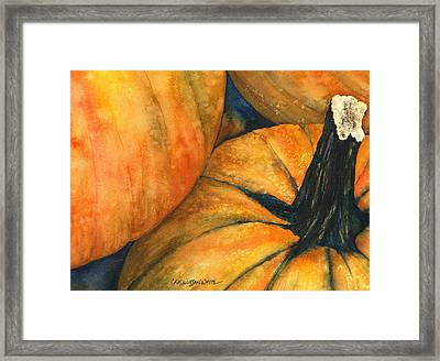 Framed Print featuring the painting Punkin by Casey Rasmussen White