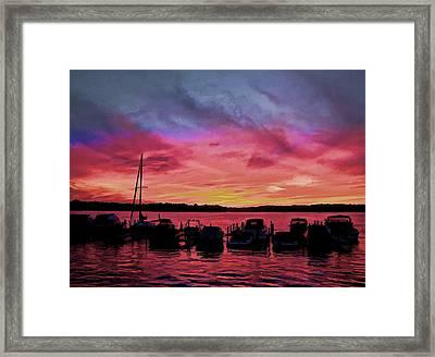 Punta Gorda Sunset Framed Print by Sandy Poore