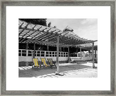 Framed Print featuring the photograph Punta Mita North Of Puerto Vallarta Mexico Three Amigos Color Splash Black And White by Shawn O'Brien