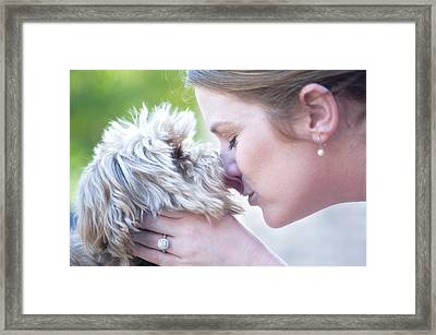 Puppy Love Framed Print by Bonnie Barry