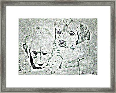 Puppy Love Framed Print by Chandra McMullen