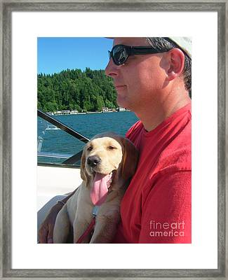 Puppy Love Framed Print by Terri Thompson