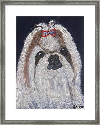 Puppy - Nib Painting Framed Print by Rejeena Niaz