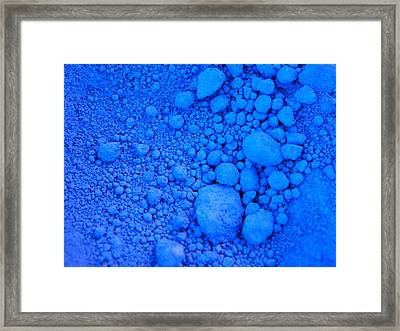 Pure Cobalt Powder Framed Print
