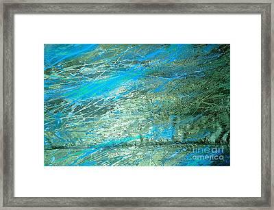Pure Gold Vein Framed Print