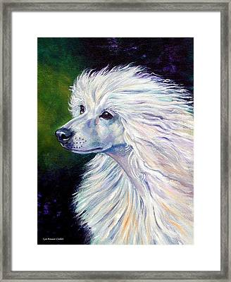 Pure Poetry - Chinese Crested Framed Print by Lyn Cook
