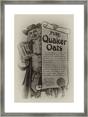 Pure Quaker Oates Framed Print by Bill Cannon
