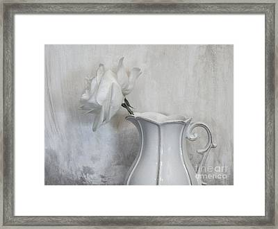Pure White Framed Print by Marsha Heiken