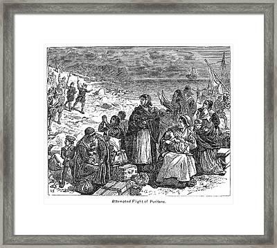 Puritan Flight Framed Print