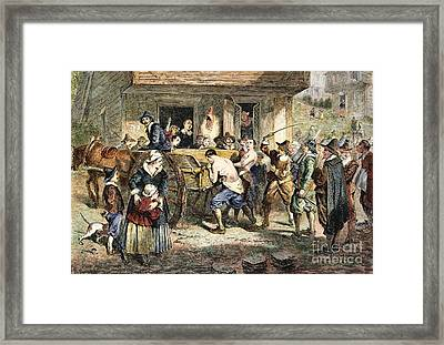 Puritans: Punishment, 1670s Framed Print