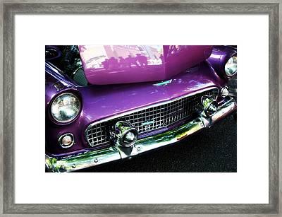 Purple 56' Thunderbird Framed Print