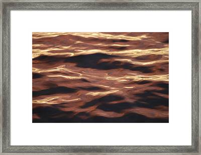 Purple Abstract Water Framed Print