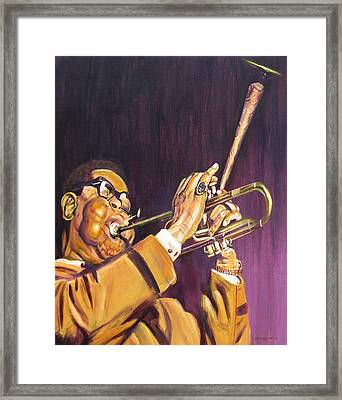 Purple And Gold Dizzy Gillespie Framed Print