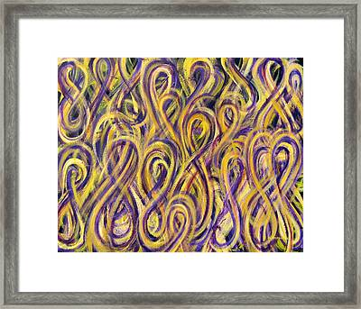 Purple And Gold Figure-eight Study Framed Print