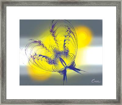 Purple Anita Butterfly 1 07 02 2012 Framed Print by Feile Case