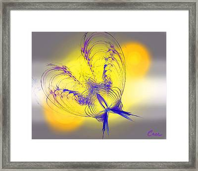 Purple Anita Butterfly 2 07 02 2012 Framed Print by Feile Case