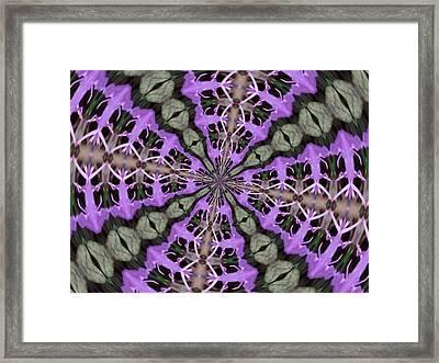 Purple Azaleas Fractal Framed Print by Skyler Tipton