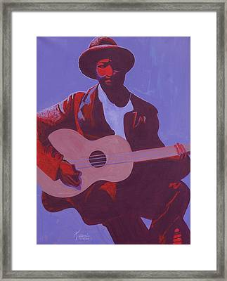 Purple Blues Framed Print by Kaaria Mucherera