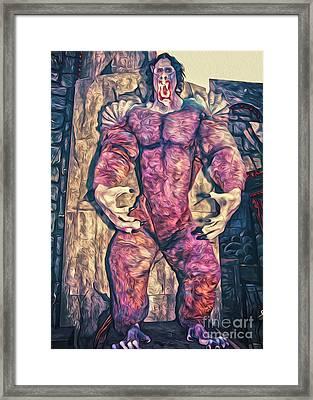Purple Carnival Monster Framed Print by Gregory Dyer