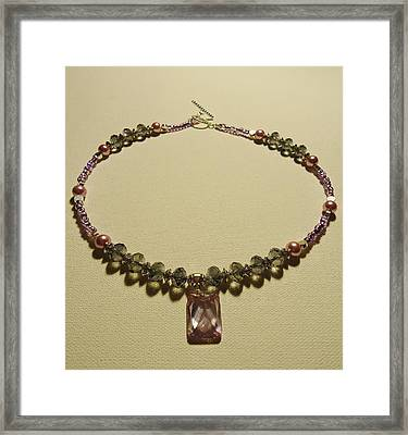 Purple Crystal Sweetheart  Framed Print