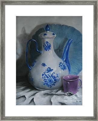 Purple Cup Framed Print