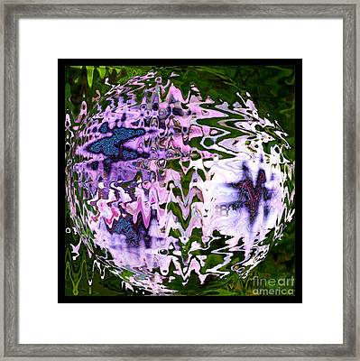 Purple Daisies World - Abstract Art Framed Print by Carol Groenen
