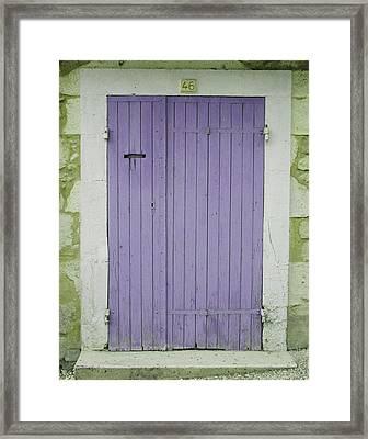 Purple Door Number 46 Framed Print by Georgia Fowler