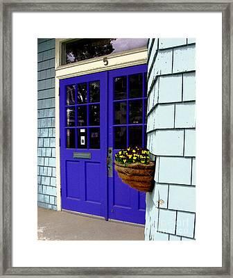 Purple Doors Framed Print