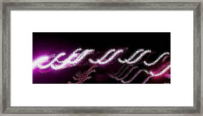 Purple Ess Framed Print by Tami Rounsaville