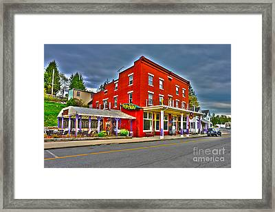Purple Fiddle In Thomas Wv Framed Print