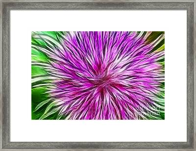Purple Flower Fractal Framed Print