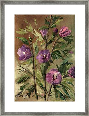 Purple Flowers 2 Framed Print