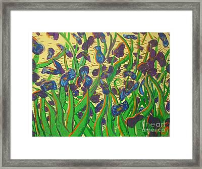 Purple Flowers Framed Print