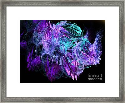 Purple Fusion Framed Print
