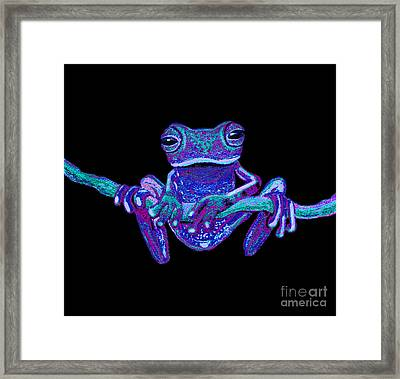 Purple Ghost Frog Framed Print by Nick Gustafson