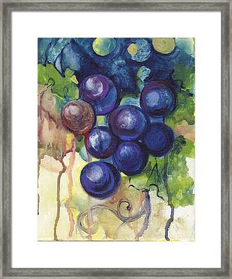 Purple Grapes II  Framed Print by Peggy Wilson