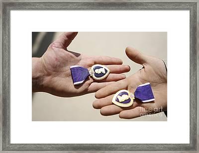 Purple Heart Recipients Display Framed Print by Stocktrek Images