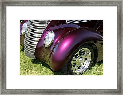 Purple Hot Rod Framed Print