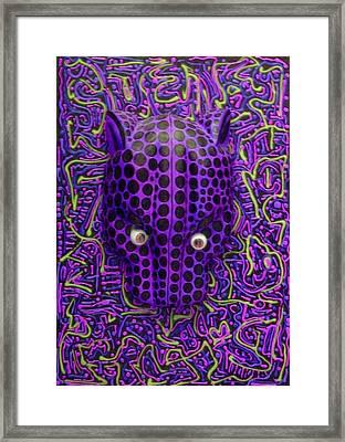 Purple Jaguar Head Framed Print