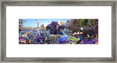 Purple Jungle Framed Print by Emily Campbell