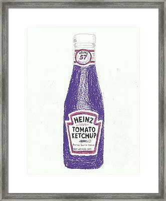 Purple Ketchup Framed Print