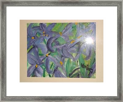 Purple Lilies Framed Print