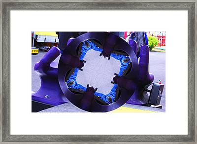 Purple Magic Fingers Chair Framed Print by Kym Backland