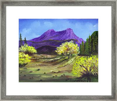 Purple Mountain Beauty Framed Print by Janna Columbus